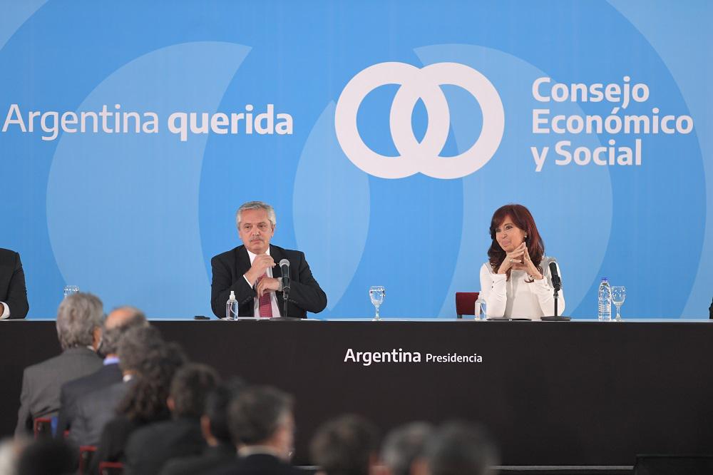 El Presidente y CFK presentaron en un acto juntos el proyecto agroindustrial